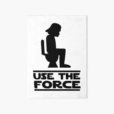 Use the force Art Board Print