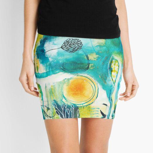 Cracks - where the light gets in Mini Skirt