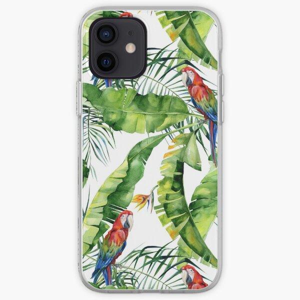 Jungle parrots pattern iPhone Soft Case