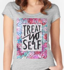 Treat Yo Self Parks and Recreation  Women's Fitted Scoop T-Shirt