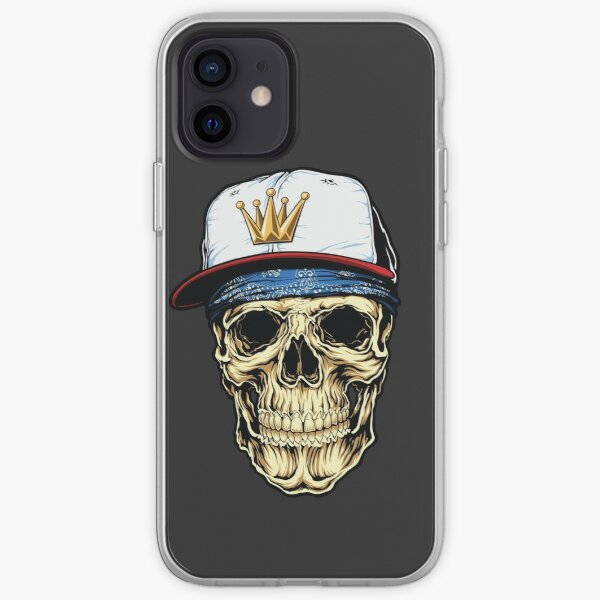 Skull king hat iPhone Soft Case