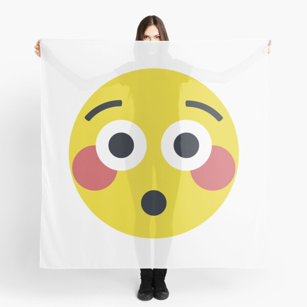 Foulards Sur Le Theme Blushing Emoji Redbubble