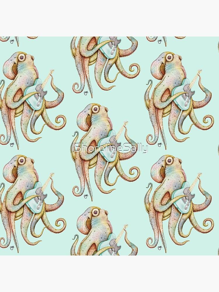 POLAH - the axe wielding Octopus (on Aqua) by ShorelineSally