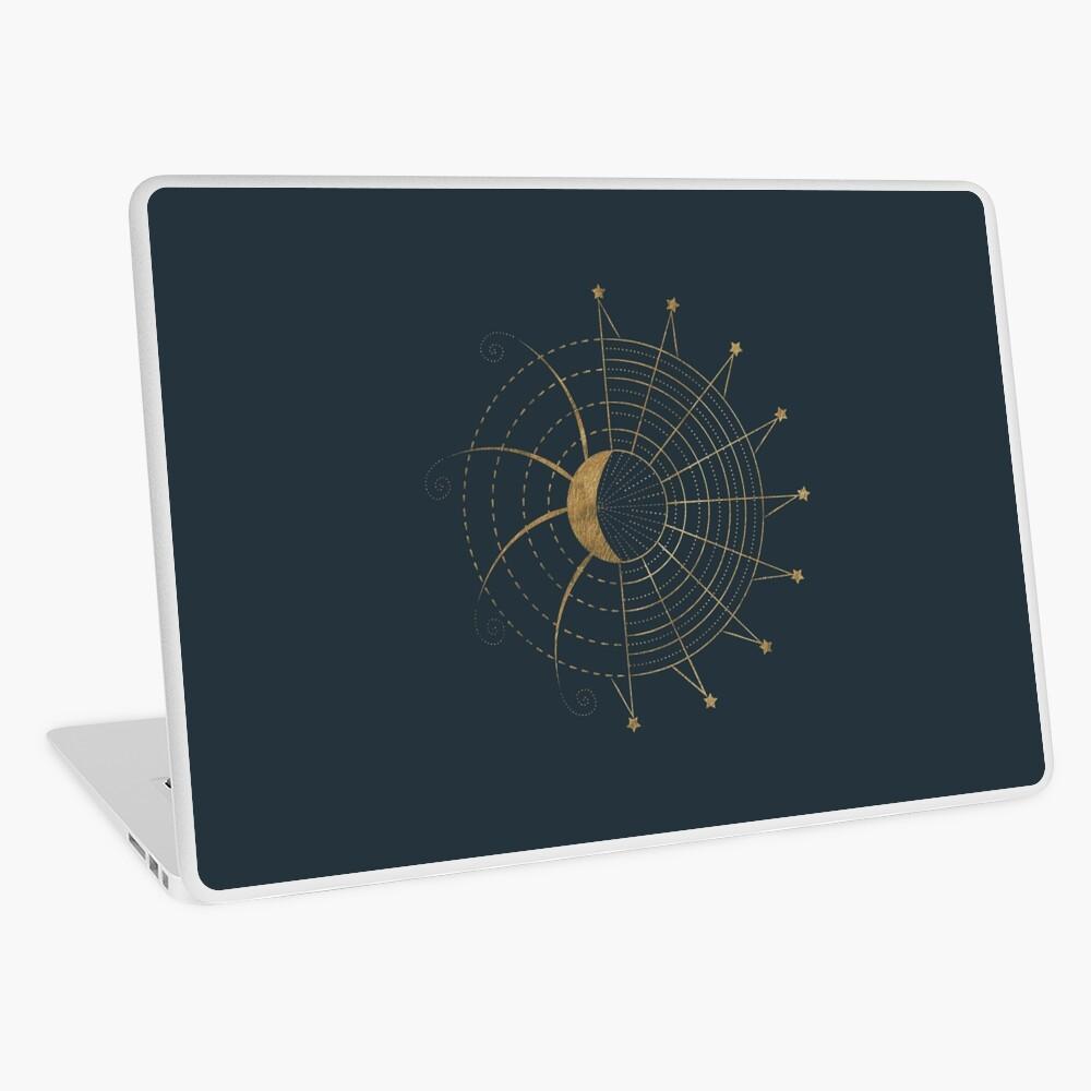 Sci-Fi Sun and Moon Symbol Laptop Skin