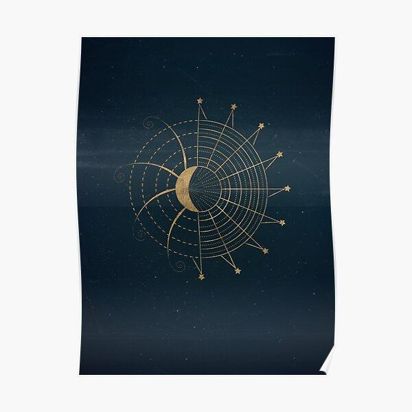 Sci-Fi Sun and Moon Symbol Poster