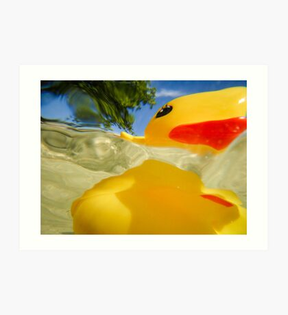 Abstract of Rubber Ducky Art Print
