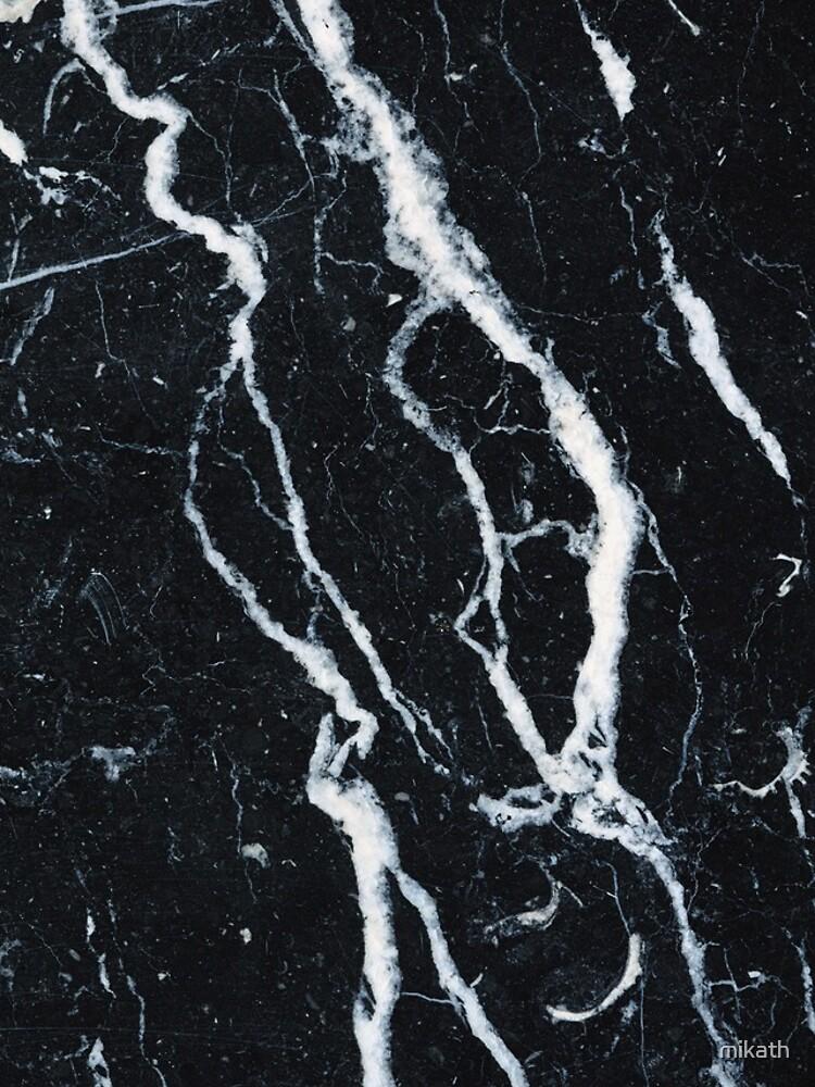 Funda de iPhone en mármol negro de mikath