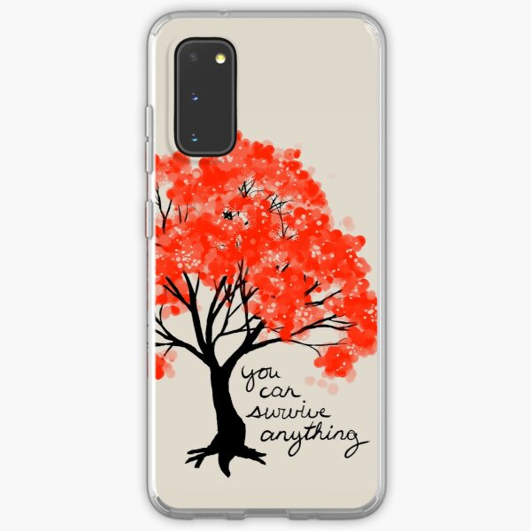 """""""You Can Survive Anything"""" Tree Samsung Galaxy Soft Case"""