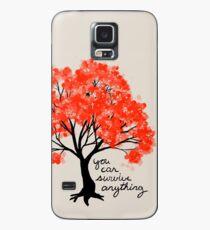 """""""Du kannst alles überstehen"""" Baum Hülle & Klebefolie für Samsung Galaxy"""