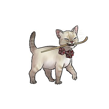 Japanese Tea Ceremony Kitten - Matcha spoon thief by ninniku