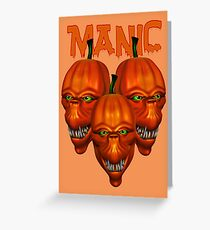 Maniacal Pumpkins  Greeting Card