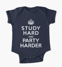 Study hard but party harder  One Piece - Short Sleeve