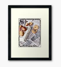 Still life with Apricots Framed Print