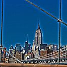 Empire State Building from the Brooklyn Bridge by michael6076