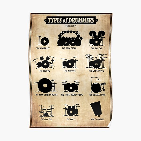 Types of Drummers Poster