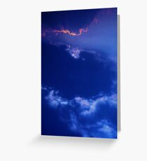 cloudscape ~ a blink of pink  Greeting Card