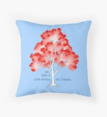 """""""Understanding and Kindness"""" Tree Throw Pillow"""