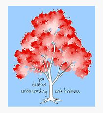 """Understanding and Kindness"" Tree Photographic Print"