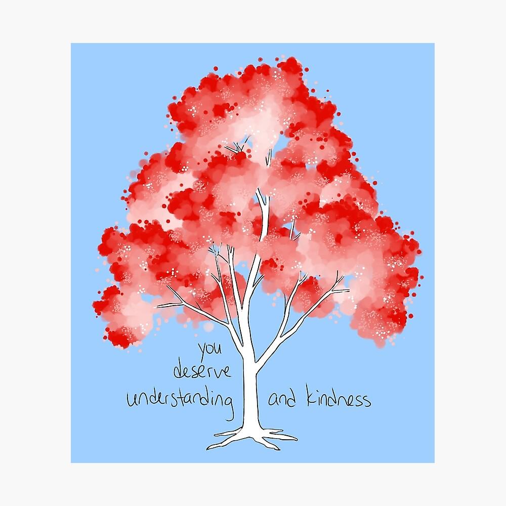 """Árbol de """"comprensión y bondad"""" Lámina fotográfica"""