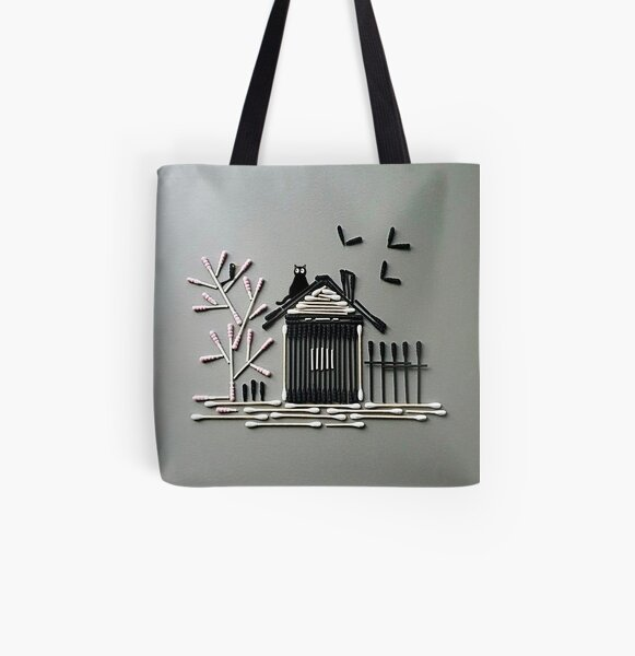 Cotton Bamboo All Over Print Tote Bag
