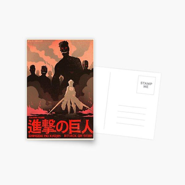 Attack on Titan minimalist  Postcard
