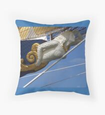 Royal Clipper figurehead  Throw Pillow