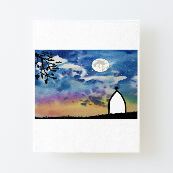 White Nancy, Bollington, Macclesfield Canvas Mounted Print