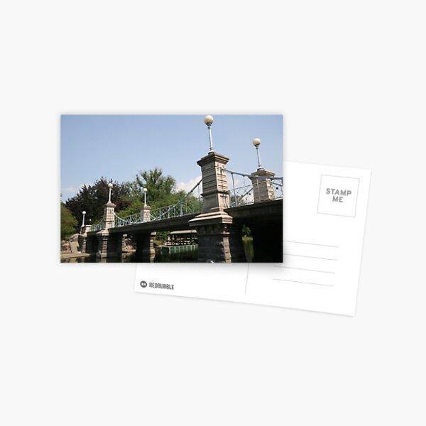 Boston Public Garden Bridge Postcard