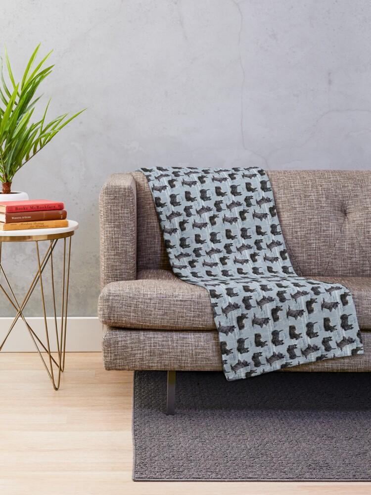 Alternate view of The Scottish Terrier Throw Blanket