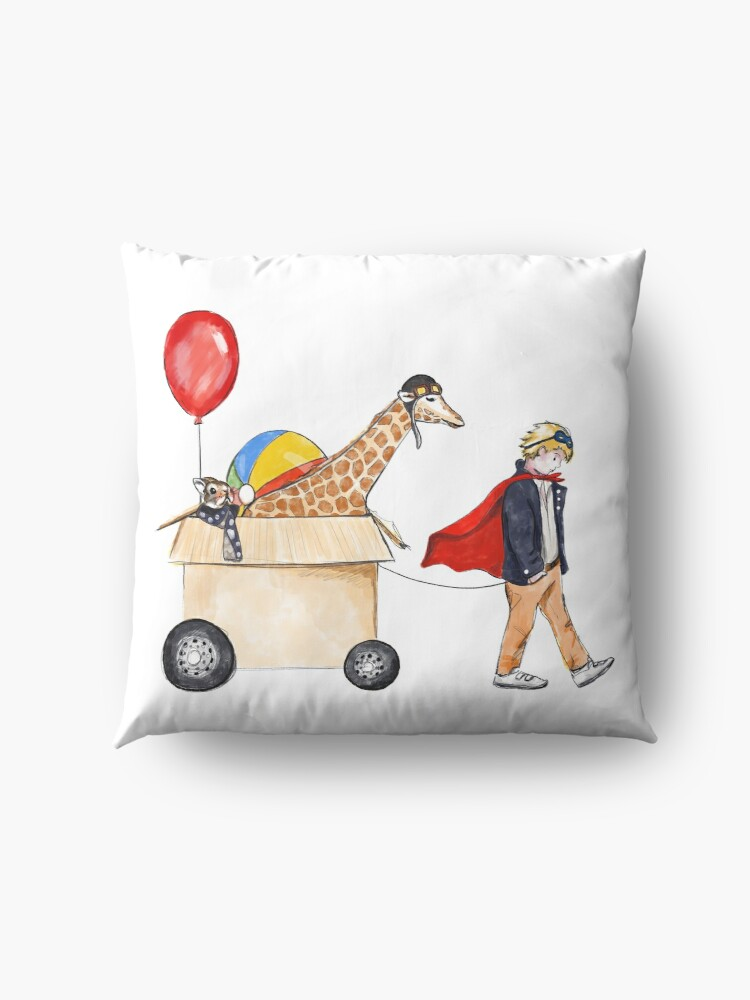Alternate view of Dreams will follow you Floor Pillow