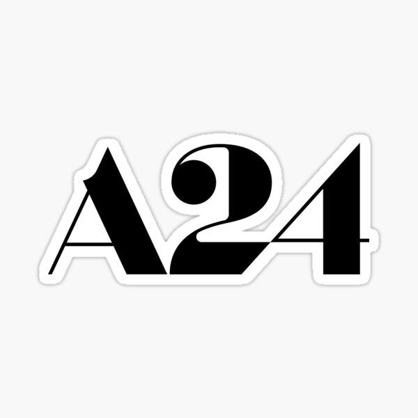 A24 logo sticker Sticker