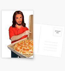 Jesus-The Dankest Pizza Man Postcards