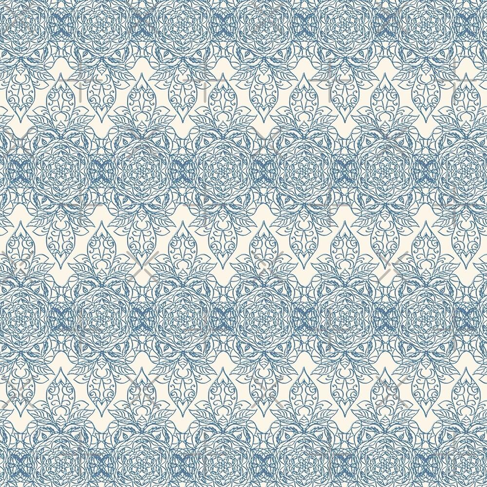 Damask Pattern in Light Blue by alliemac