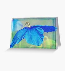 Out of a fairytale book, waiting for a blue fairy to land Greeting Card