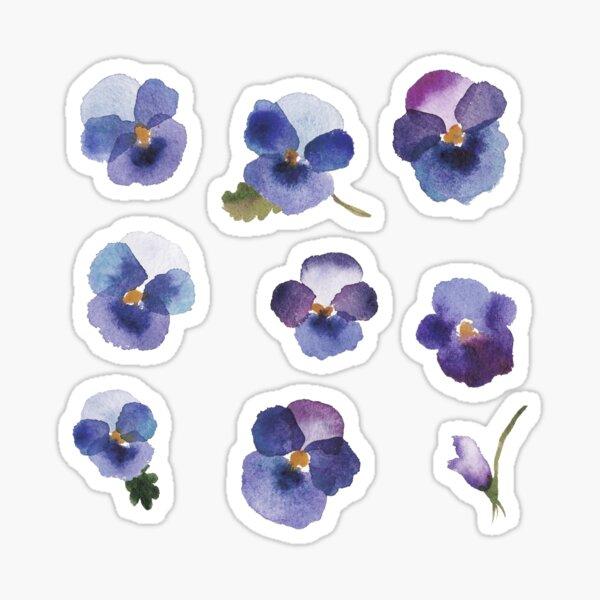 Little Violet - Blue Flowers - Stickers Sticker