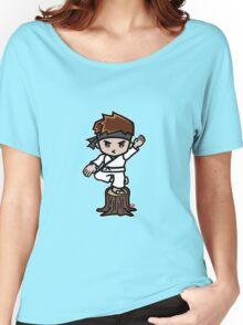 Martial Arts/Karate Boy - Crane one-legged stance Women's Relaxed Fit T-Shirt