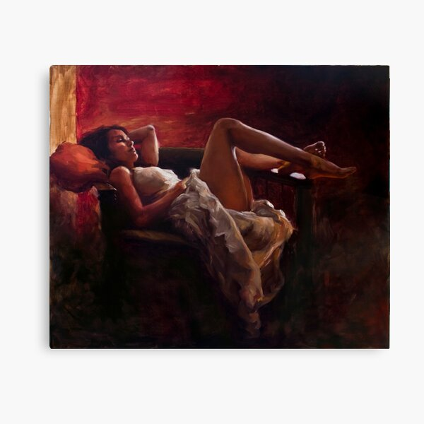 Sitting by the Fire Canvas Print