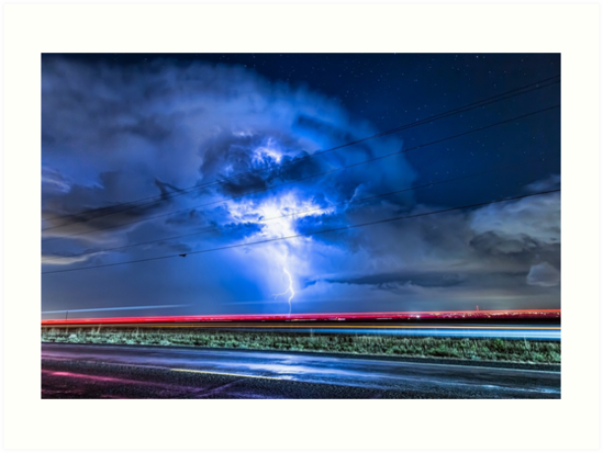Alien Power Line Explosion by Bo Insogna