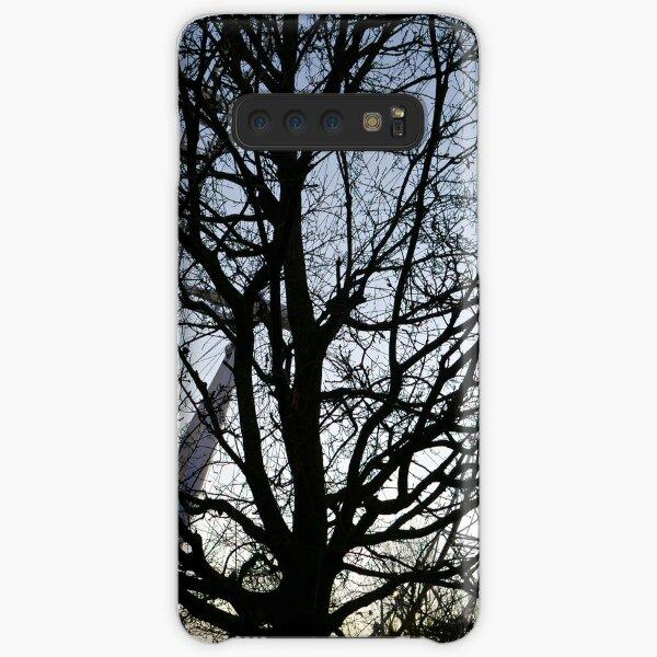 London Eye view thru trees near it Samsung Galaxy Snap Case