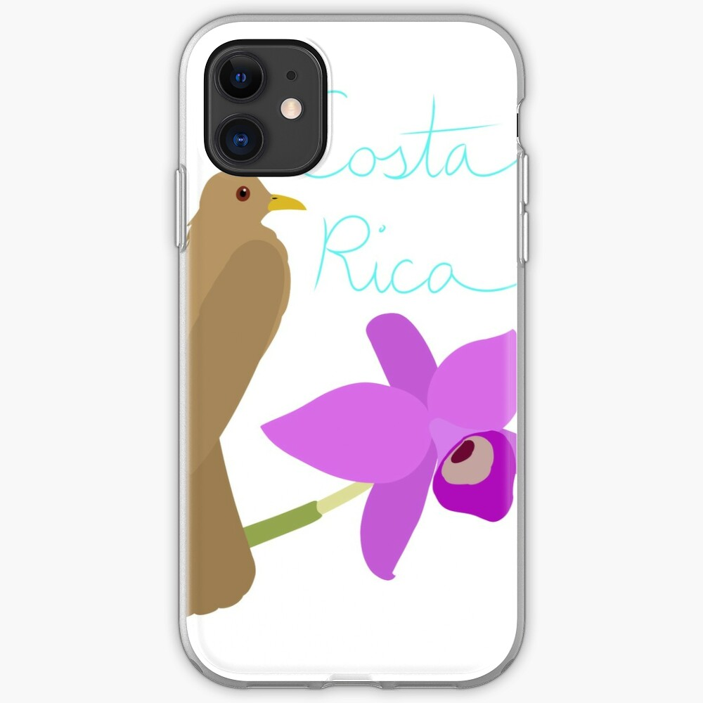 Costa Rica: Guaria Morada and Clay Colored Thrush iPhone Case & Cover