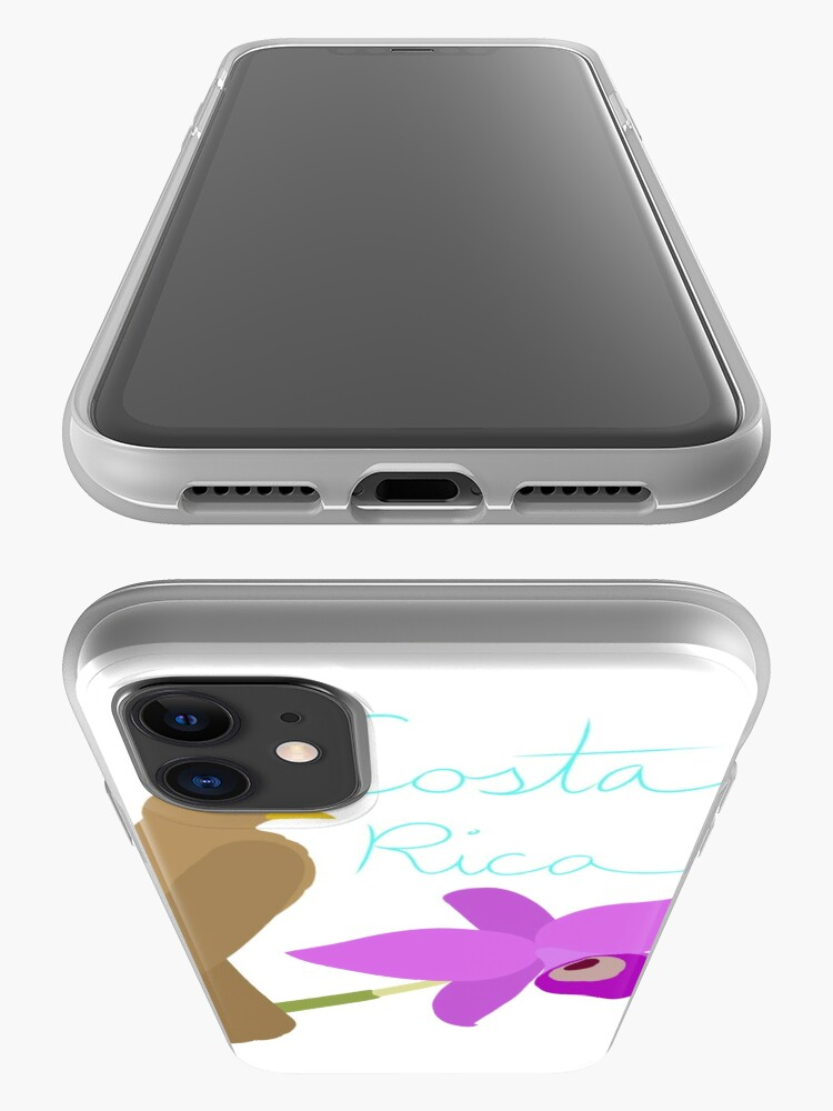 Alternate view of Costa Rica: Guaria Morada and Clay Colored Thrush iPhone Case & Cover