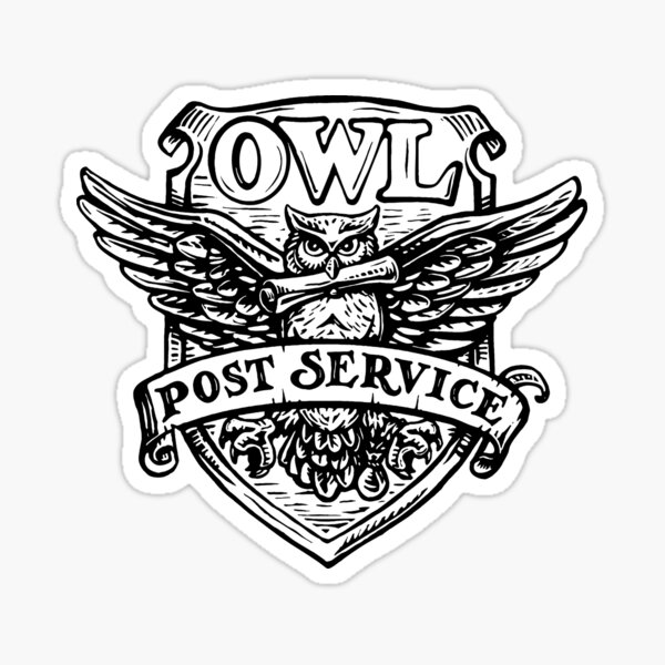 Owl Post Service Sticker