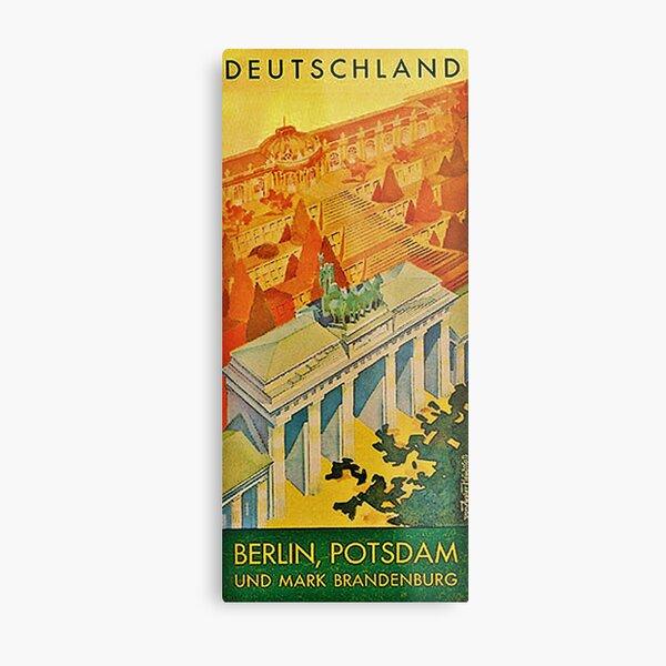 Vintage 1936 Berlin Travel Brochure Cover Metal Print
