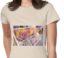 Shop shelves with blooming heather Womens Fitted T-Shirt