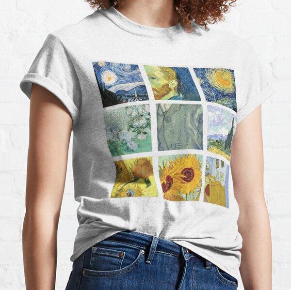Vincent Van Gogh Painting Grid Classic T-Shirt