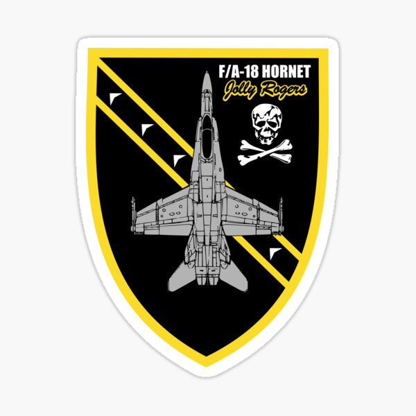 F/A-18 Hornet Jolly Rogers Sticker