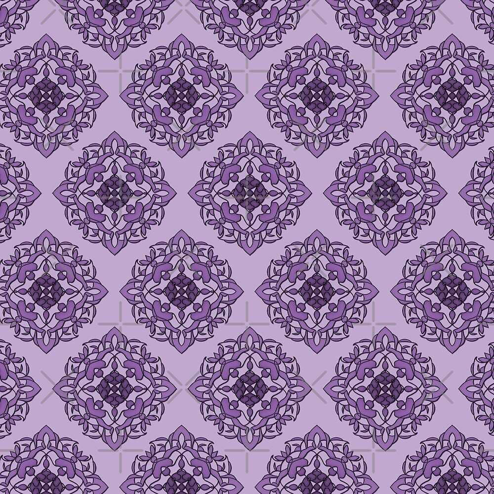 Damask Pattern in Purple by alliemac