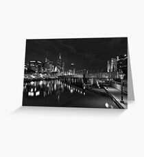 Melbourne at Night (Australia) Greeting Card