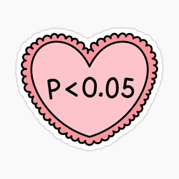 Copy of Statistics research sticker - biostatistics, epidemiology, science, public health, valentine's day, funny Sticker