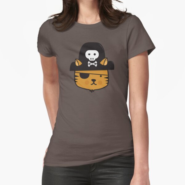Pirate Cat - Jumpy Icon Series Fitted T-Shirt